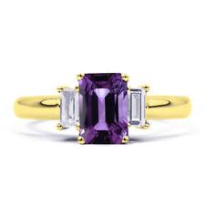 Anelli di lusso con gemme smeraldo oro gialli 9 carati