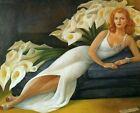 Print - Portrait of Natasha Gelman, 1943 by Diego Rivera