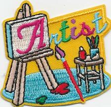 Girl Boy Cub ARTIST visit project Fun Patches Crests Badges SCOUTS GUIDE easel