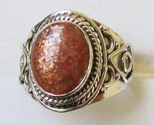Sunstone Artisan Designed Ring in 925 Sterling Silver size 10