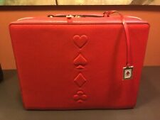 Estee Lauder Red Train Case/Travel Cosmetics 2019- Hearts,Clubs,Diamonds,Spades