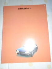 Citroen CX range brochure Aug 1976