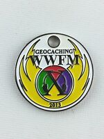 Pathtag Geocoin Geocache Tag #25843 World Wide Flash Mob - 2013, WWFM X