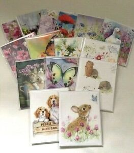 Note Cards Just to Say Thank You Blank 4 Card Pack Various Designs Noel Tatt