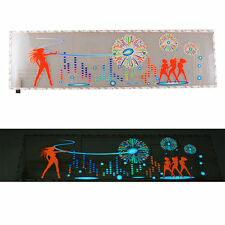 Dancing Girl Car Sticker Sound Activated Equalizer Music Rhythm LED Flash Light
