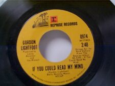 """GORDON LIGHTFOOT """"IF YOU COULD READ MY MIND / POOR LITTLE ALLISON"""" 45"""