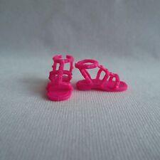 NEW 2015 Barbie Fashionista Teresa Doll Pink Flat Sandals Shoes ~ ADD ON ITEM!