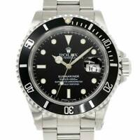 ROLEX Submariner Date 16610 Serial X Automatic Black Dial Mens Watch 90103666