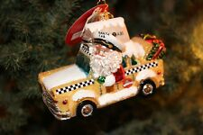 'Holiday on Broadway' Taxi Cab (1018305) Radko Glass Christmas Ornament - NWT
