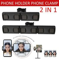 2 In 1 Phone Holder Clamp Pad Clip Stand Mobile Phone Expansion Clip Car Holder