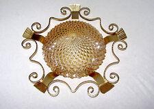 Traumhafte Plafonnier Schmiedeeisen-Glas  Deckenlampe 1 Flammig