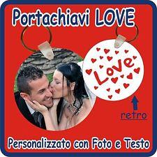 PORTACHIAVI RETTANGOLO LOVE PERSONALIZZATO CON LA TUA FOTO e TESTO!