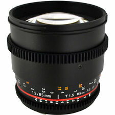 Rokinon 85mm T1.5 Cine Lens for Canon EF CV85M-C
