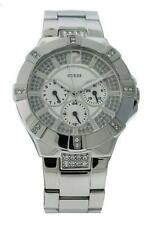 Guess Steel W12080L1 Women's Round Day Date Analog Clear Stones Analog Watch