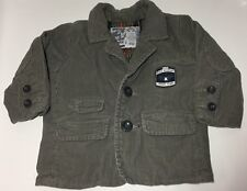 Gap Corduroy Blazer Suit Jacket Youth Boys 6-12 Months Plaid Lined w/ Elbow Pads