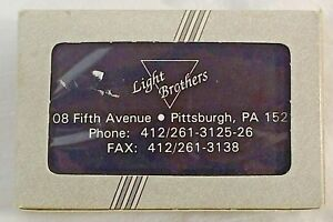 Light Brothers Pittsburgh  Single Deck Playing Cards New Cello sealed
