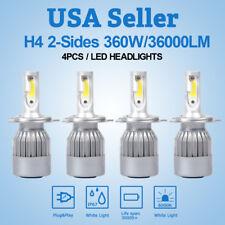 4 X H4 HB2 360W 36000LM LED Headlight Kit High/Low Beam Bulbs White 6000K Power
