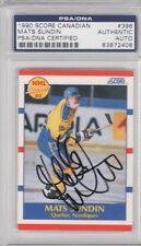Mats Sundin Quebec Nordiques 1990 Score Canadian Signed AUTOGRAPH PSA DNA