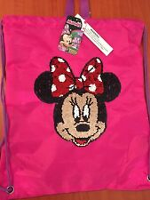 DISNEY Minnie Mouse Sequin Drawstring Bag /shoes/dance Licensed NEW WITH TAG