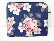 Cath Kidston Blue Floral Tablet Case oil cloth zip soft 27 x 22.5cm