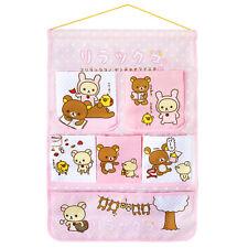 Rilakkuma - Pink 6 Pockets Wall Organizer / Hanging Organizer