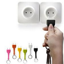 Cute Home Wall Decroation Design Unplug Keyring  Plug Socket Keychain Key Ring