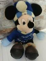 Walt Disney World Mickey Mouse Plush Toy Blue Jumper Hat
