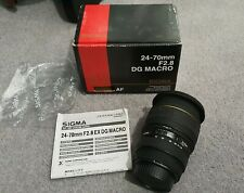 Sigma 24-70mm f2.8 DG Macro Lens Canon Fit boxed