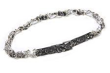 Negro Plata Cromo Cadena Piel De Serpiente Rock Cinturón 86-96 cm/34-38 pulgadas de cintura (ZX38)