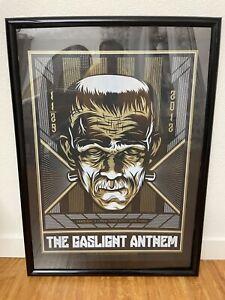 The Gaslight Anthem Frankenstein Poster El Jefe Design Terminal 5 New York RARE