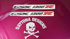 GSXR 1300 R GRAPHITE &  RED SEAT UNIT PAIR CUSTOM GRAPHICS DECALS STICKERS
