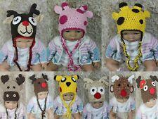 Wholesale Lot 10 Knit Cotton Newborn Baby Child Reindeer Elk Hat Photo Prop Hats
