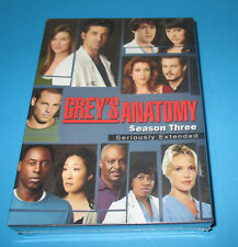 NEW- Grey's Anatomy - The Complete Third Season (DVD, 2007, 7-Disc Set) Extended