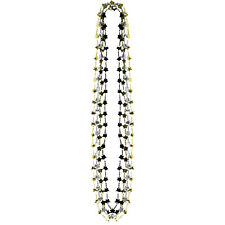 Black, Silver & Gold Star Fancy Dress Party Necklaces x 4