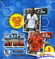 2013/14 Topps Match Attax Premier League Soccer BOX-50 Factory Sealed Packs !