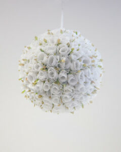 ROSE POMANDER FLOWER BALL 30CM 2 COLOURS DIAMETER WEDDING DECOR CENTREPIECE