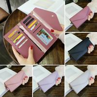 Women Clutch Faux Leather Wallet Long Card Holder Phone Bag Case Handbag Purse