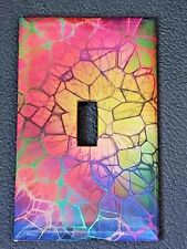 Brand New Mosaic Cracked Glass Handmade Custom Light Switch Wall Plate Cover