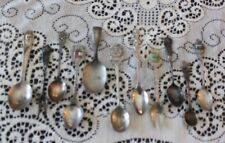11 Vintage Silver Plate Souvenir Spoons Forks Gerber Dutch Spain Curved and More