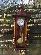 Antique Walnut Double Weight Vienna Clock Gustav Becker