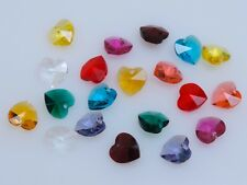 SWAROVSKI® Crystal Heart Pendants, 20 pcs. ART#6202/6228 10mm Hearts, Assortment