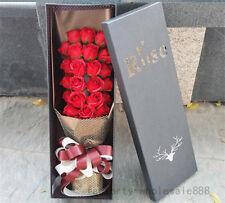 2018 Valentine gift 24pcs soap Rose flowers red Box Birthday Creative wedding