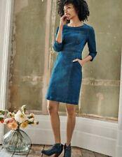BODEN Jeans Kleid Coraline Denim Dress-Taschen UK.14R  40 42
