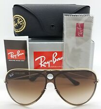 NEW Rayban sunglasses RB3605N 909613 32mm Gold Silver Brown Gradient AUTHENTIC