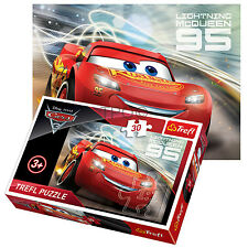 Trefl 30 PEZZI Kids Girls DISNEY PIXAR CARS 2 LIGHTNING MCQUEEN 95 Puzzle