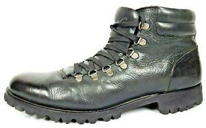 "Kenneth Cole ""Bike 2 Work"" Black Leather Boots Biker Mountain Men's Sz 10M"