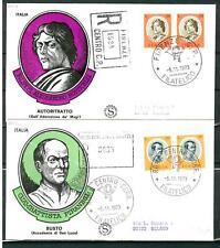 ITALIA REP. - 1973 - Artisti italiani (1) coppia su cinque FDC Filagrano
