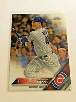 2016 Topps Chrome Baseball Base Card - Anthony Rizzo - Chicago Cubs
