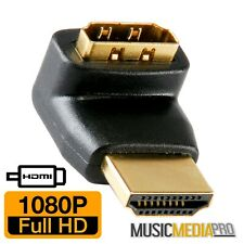 HDMI Compact 90 Degree Angled Adapter Female Socket to Male Plug Right Angle