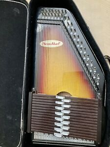 Chromaharp Autoharp w/ Case From Japan - Stringed Instrument